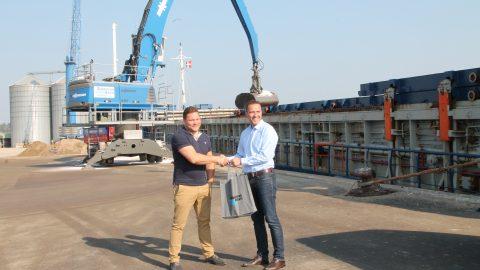 Steffen Esbensen, shipping.dk, og Henrik Thykjær, Aabenraa Havn